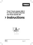 Página 1 do Thule T-track Adapter 889-3