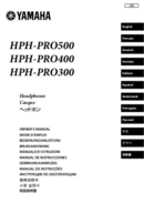 Yamaha HPH-PRO500BL sivu 1