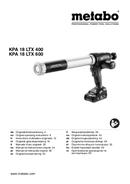 Página 1 do Metabo KPA 18 LTX 400