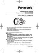 Panasonic ET-D75LE10 page 1