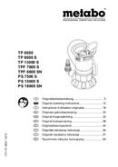 Página 1 do Metabo TP 7500 SI