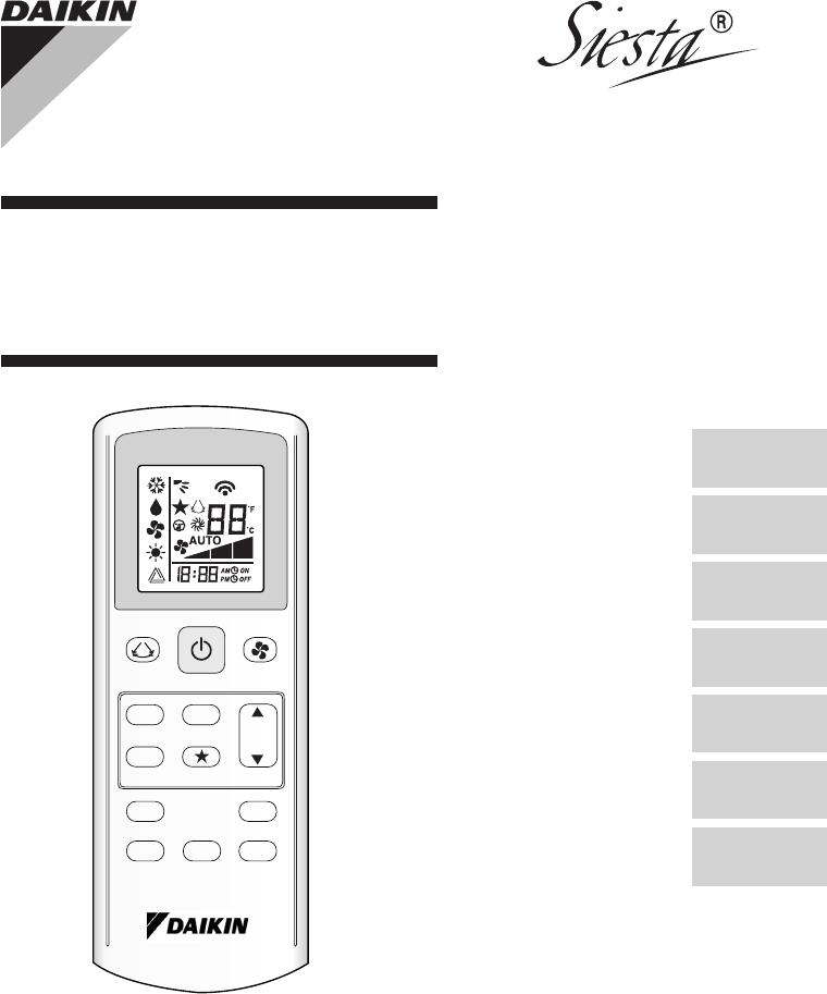 Daikin SBATXB60CARXBC manual