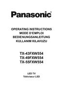 Panasonic TX-49FXW554 Seite 1