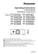 Panasonic PT-EW530 sivu 1