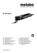 Página 1 do Metabo MT 400 Quick