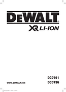 DeWalt DCK791 page 1