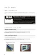 Página 1 do Thule Universal Lock 301406