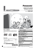 Panasonic DVD-S47 sivu 1