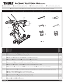 Pagina 1 del Thule Raceway Platform Pro 9003Pro