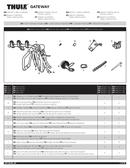 Página 1 do Thule Gateway 9006XT