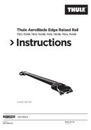 Página 1 do Thule AeroBlade Edge Raised Rail 7501B
