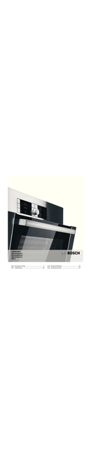 Bosch HMT84G651 page 1