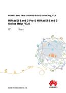 página del Huawei Band 3 Pro 1