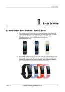 página del Huawei Band 3 Pro 5