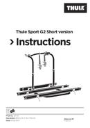 Página 1 do Thule Sport G2 Short