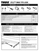 Pagina 1 del Thule Snug-Tite Receiver Lock