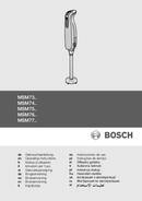 página del Bosch MSM7500 Styline 1
