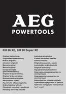 Página 1 do AEG KH 26 XE