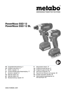 Metabo PowerMaxx SSD 12 BL Seite 1
