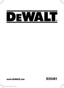 DeWalt D25481 page 1