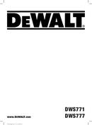 DeWalt DWS771 page 1
