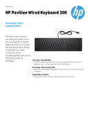 HP Pavilion Wired Keyboard 300 page 1