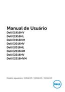 Página 1 do Dell E Series E2016HV