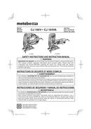 Metabo CJ 160V Seite 1