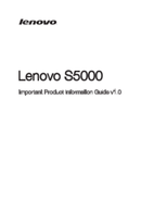 Lenovo IdeaTab S5000 sivu 1