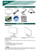 Acer X 222W sivu 3