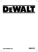 DeWalt DWS727 page 1