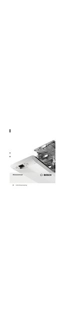 Bosch SBV93M10 pagina 1