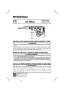 Metabo DH 30PC2 Seite 1
