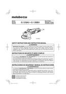 Metabo G 12SA3 Seite 1