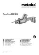 Metabo Powermaxx SSE 12 BL Seite 1