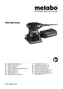 Metabo FSR 200 Intec Seite 1