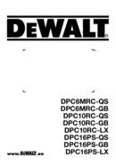 DeWalt DPC16PS-QS page 1