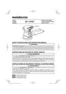 Metabo SV 13YST Seite 1