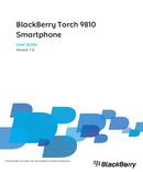 Pagina 1 del BlackBerry Torch 9810